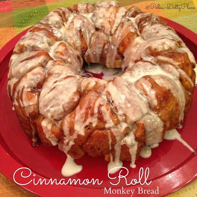 Cinnamon Roll Monkey Bread is a delicious  breakfast.