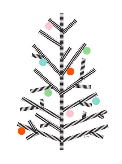 Lille Lykke, masking tape - alternatieve kindvriendelijke kerstboom kerstversiering diy christmas tree alternative