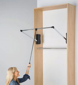 I need this for above the top shelf in my tall closet. So much unused space. I could put my out of season clothes on this!