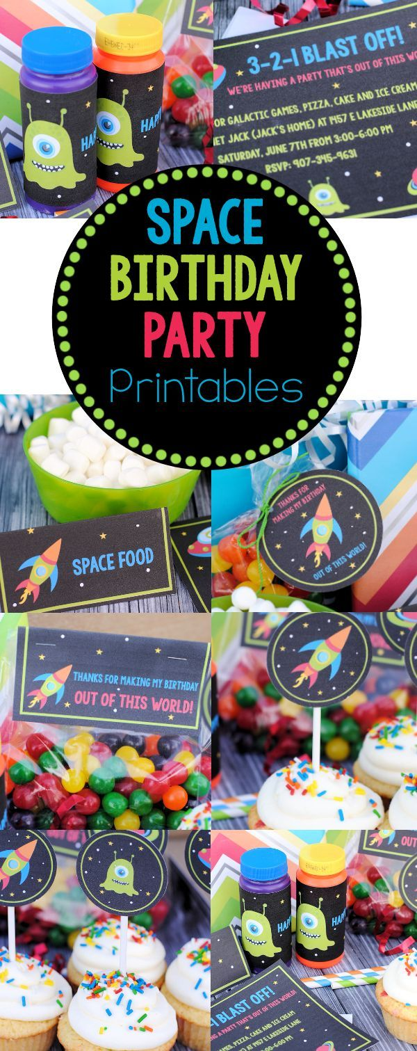 printable horse birthday party invitations free%0A Space Birthday Party Invitations  u     Party Pack