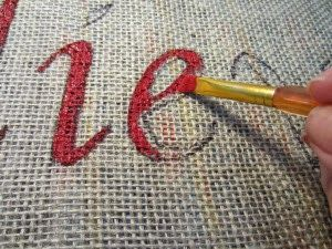 JuteZone: How to Paint Jute Bags and Fabric