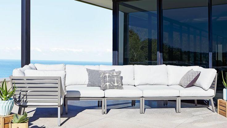 Home :: Outdoor :: Outdoor Lounges :: Modular Lounges :: Vista 6 Piece Corner Modular Lounge