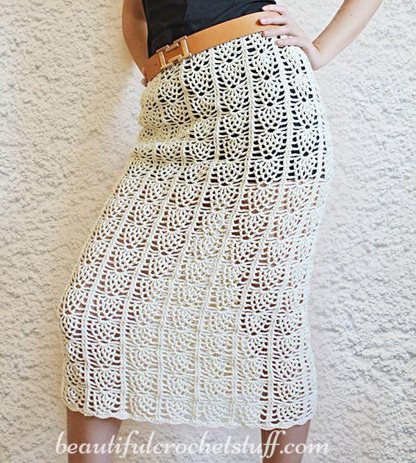 Pineapple Crochet Skirt Free Pattern by janegreen