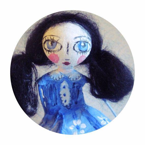 OOAK doll art doll poupée d'artpaper mach par MlleCelesteArtdoll