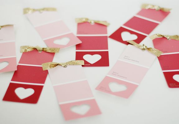 These Valentines might be my favorite paint swatch craft I've ever seen!  From Brunch at Saks.