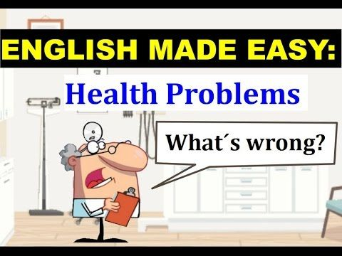 Health Problems - English Vocabulary - YouTube
