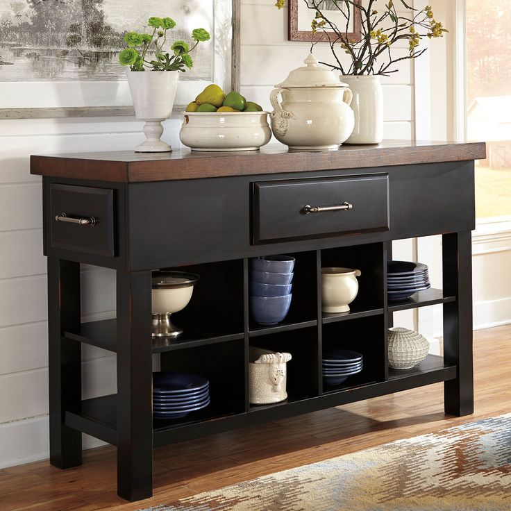 Signature Designs By Ashley Marileze Brown Black Dining Room Server