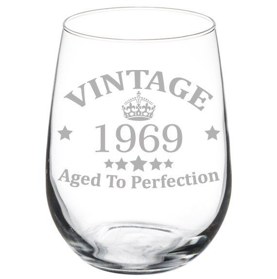 Awesome Since 1970 50th Birthday Funny Gift Wine Glass