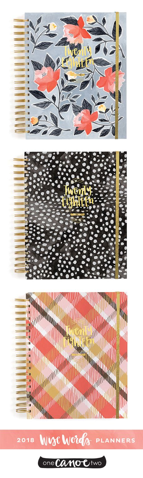 2018 Wise Words Planners from @1canoe2. Stay organized with a desktop agenda! Perfect graduation gift, or office accessory for yourself! Available in academic or standard year form!
