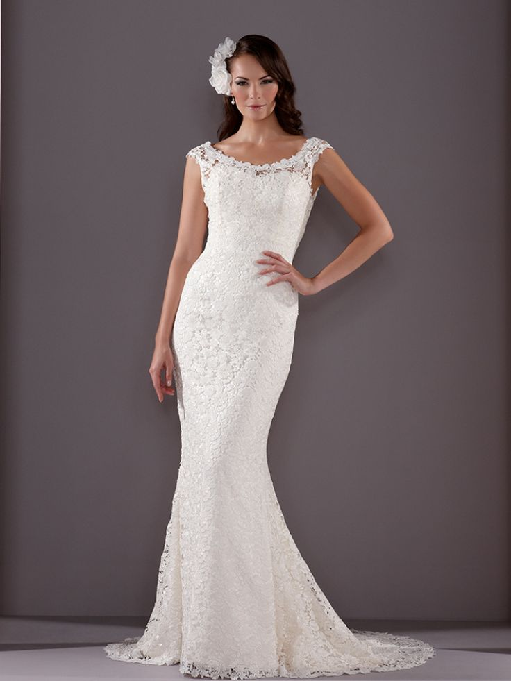 I Love This Traditional Sassi Holford Mia Gown With Boat Neckline