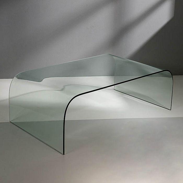 mesa de centro cristal suvi de diseo moderno