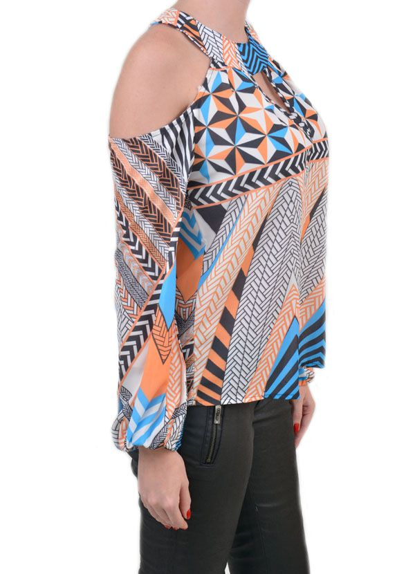 Compre Blusa Estampada com Ombro Vazado e Mangas Longas na Marttina Store, a loja de roupa feminina com ✓ Entrega Rápida e Segura ✓ Troca Grátis ✓ Parcelamento em 12X