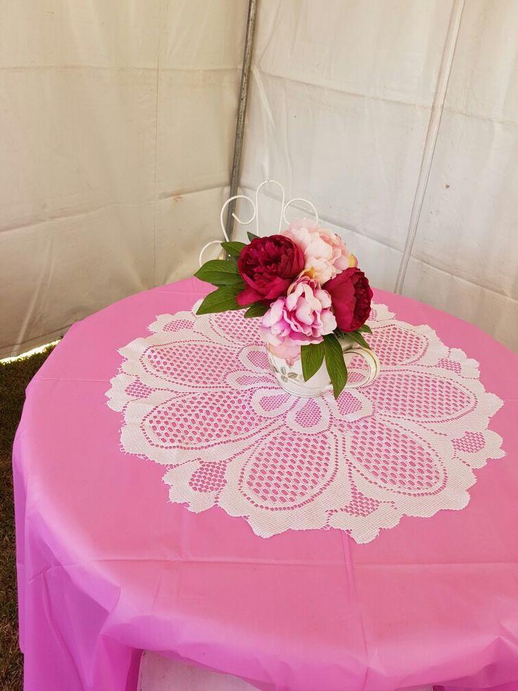 Teapot table decoration.