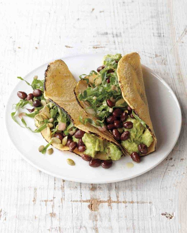 Avocado and Black Bean Tacos   34 Clean Eating Recipes That Are Perfect For Spring