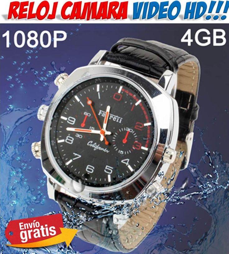 #tecnologia #electronica #novedades #gadgets #espia #espionaje #camaras #videocamaras Reloj espía con cámara de video HD. Comprar relojes sumergibles a precios baratos en la tienda online de electronica, regalos y gadgets Yougametronica.