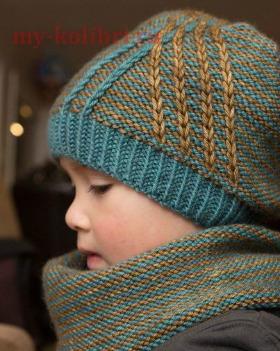 Шапочка спицами «Crossroad Hat»