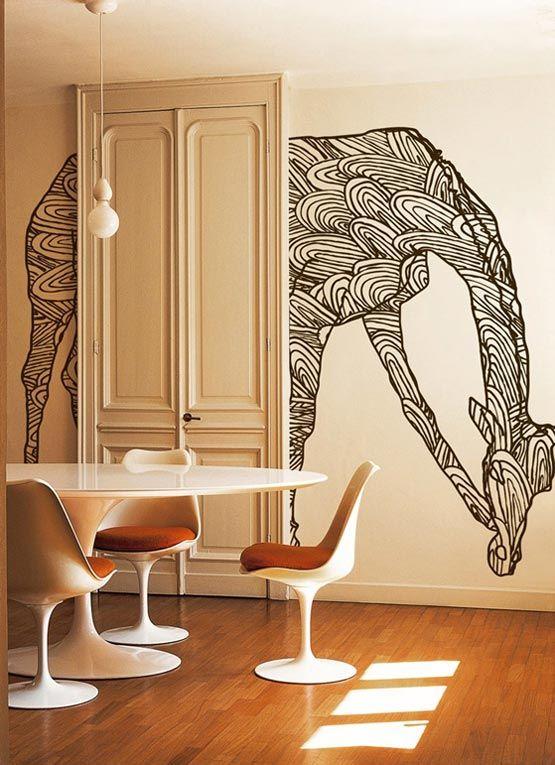 wall mural giraffe - pretty cool!