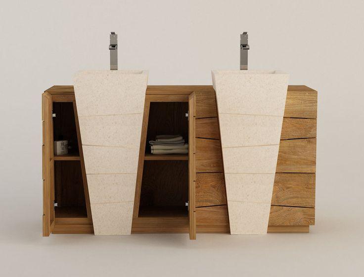 25 best ideas about double vasque on pinterest for Meuble vasque salle de bain original