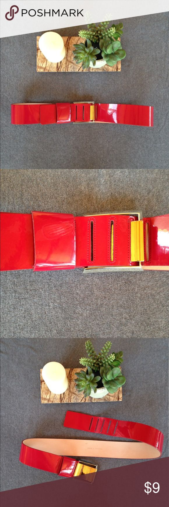 Sassy Red Belt Stylish red belt with silver buckle. The red is a bit darker than it shows up in the pictures. Belt is 46 inches long (not including buckle). Used but in good condition. Accessories Belts