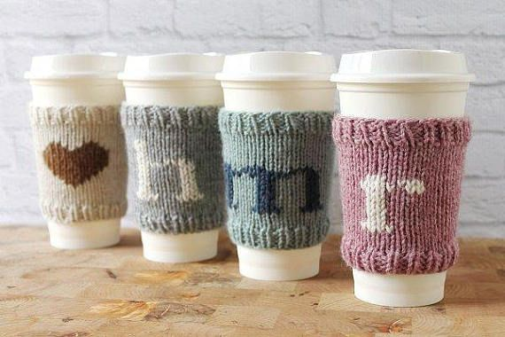 Coffee Cozy Knit Coffee Sleeve Cup Sleeve Cup Cozy Teacher