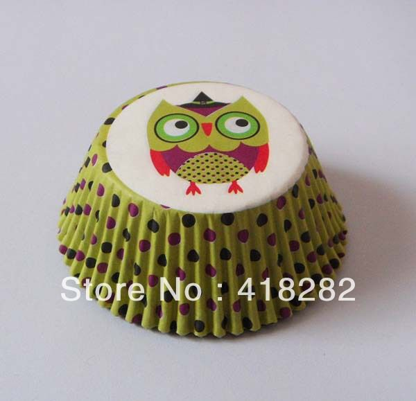 313.00 р On Promotion 200 pcs Cute Owl birthday Cake Cup polka dot cupcake liner graduation paper muffin baking cup Cake packing wrapper-in Cake Mold...