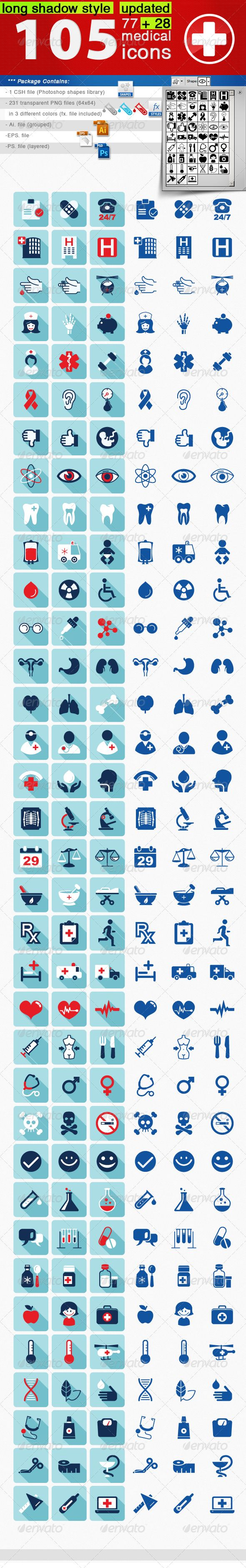 105 Medical Icons Set — Photoshop PSD #pharmacy #ambulance • Available here → https://graphicriver.net/item/105-medical-icons-set/4657372?ref=pxcr