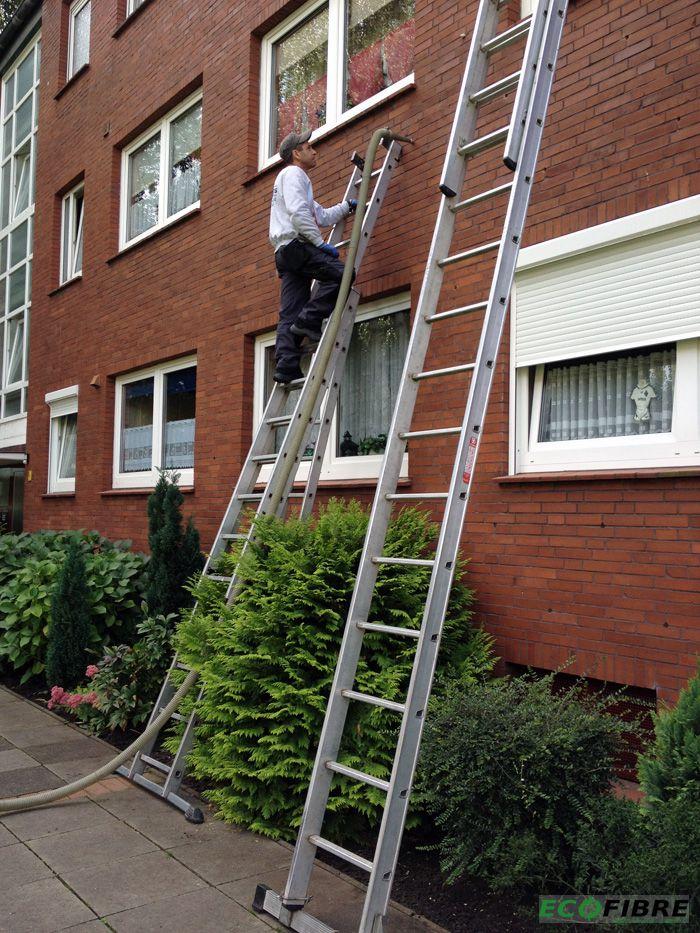 Kerndämmung zweischaliges Mauerwerk Rotklinkerfassade in Emden - Wärmedämmung, Fassadendämmung, Dämmung