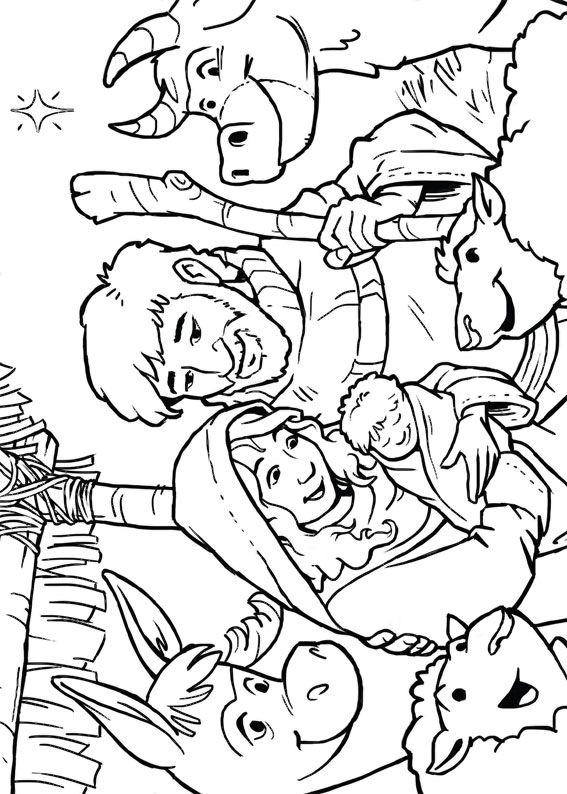 21 Disegni Del Presepe Da Colorare Natale
