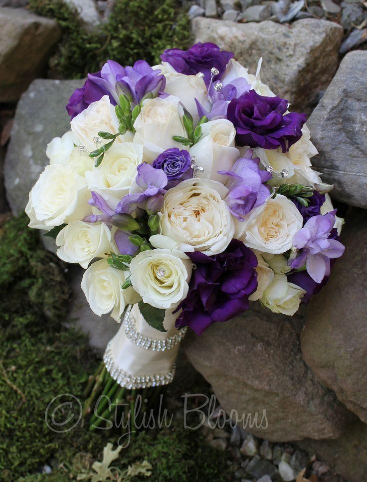 Lavender Roses Purple Lisianthus And White Alstromeria