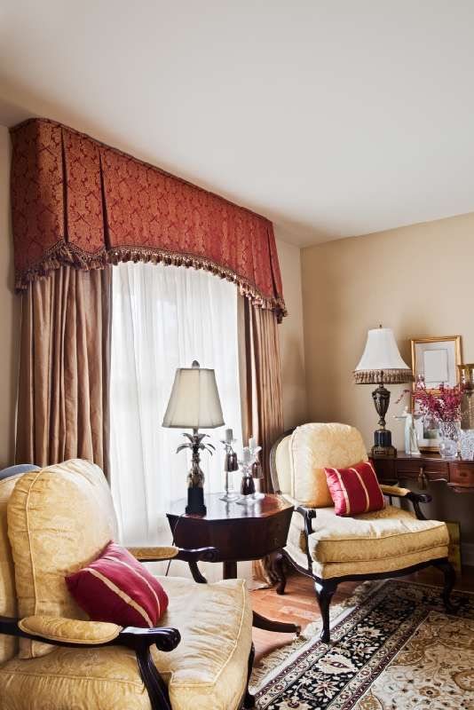 valance and draperies