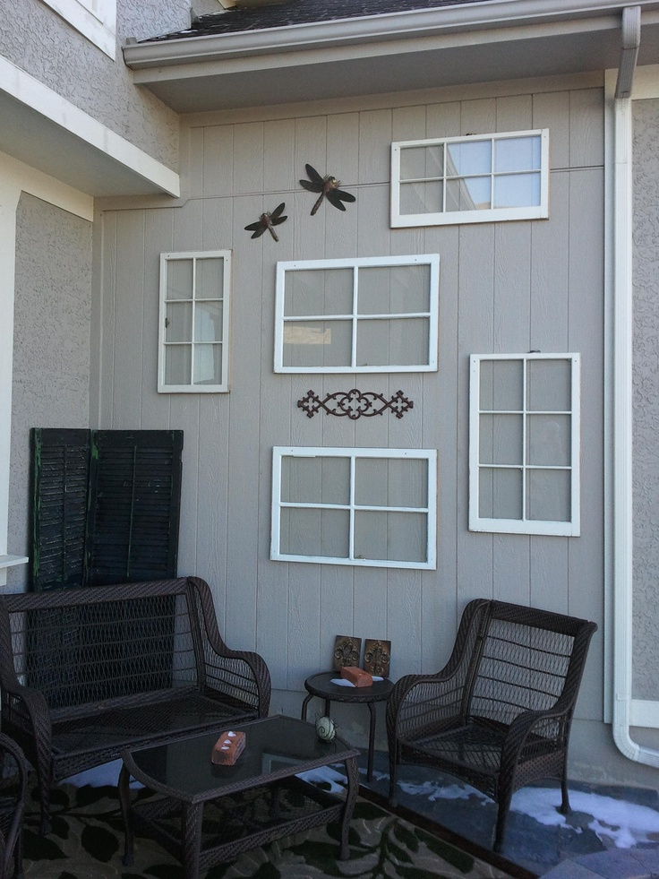 17 best images about window and frame design ideas on for Outdoor decorating with old windows