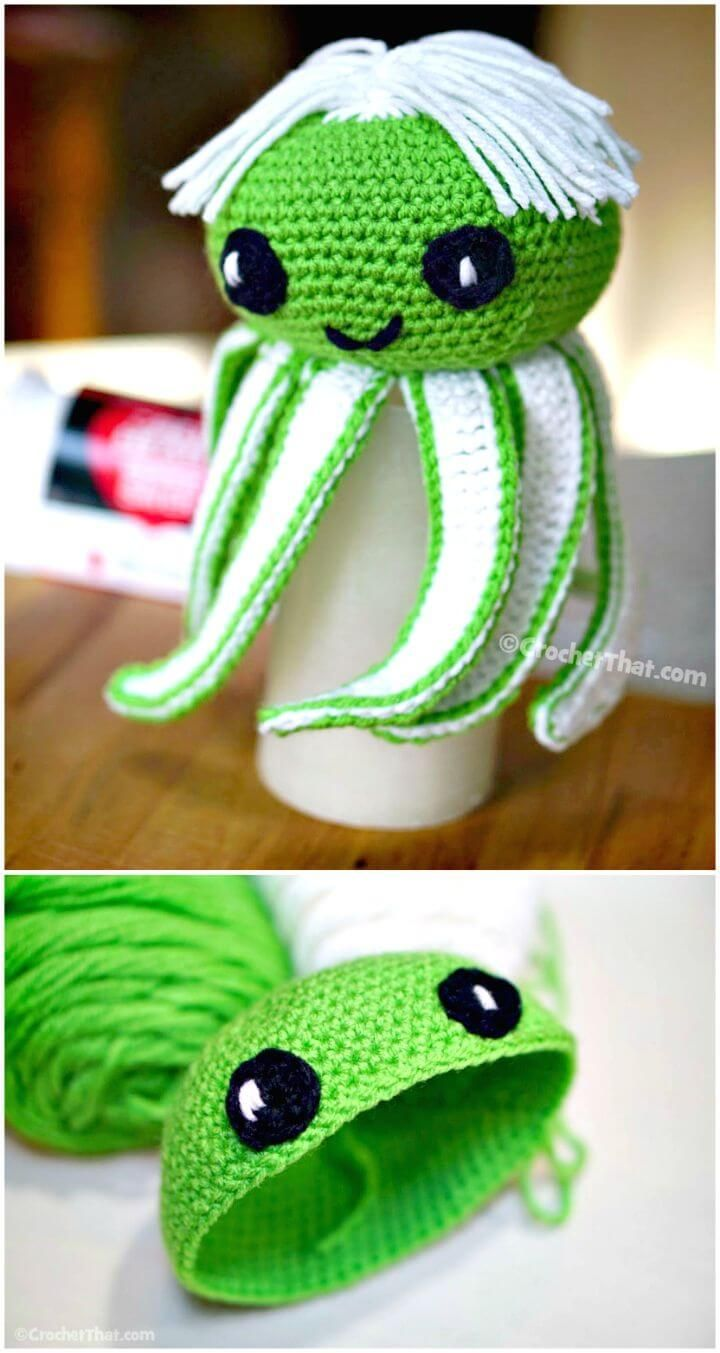 Amigurumi Octopus Baby Toy Free Pattern | Crochet keychain pattern ... | 1353x720