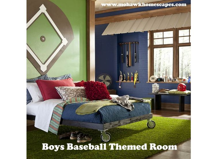 World Series Boys Baseball Themed Room