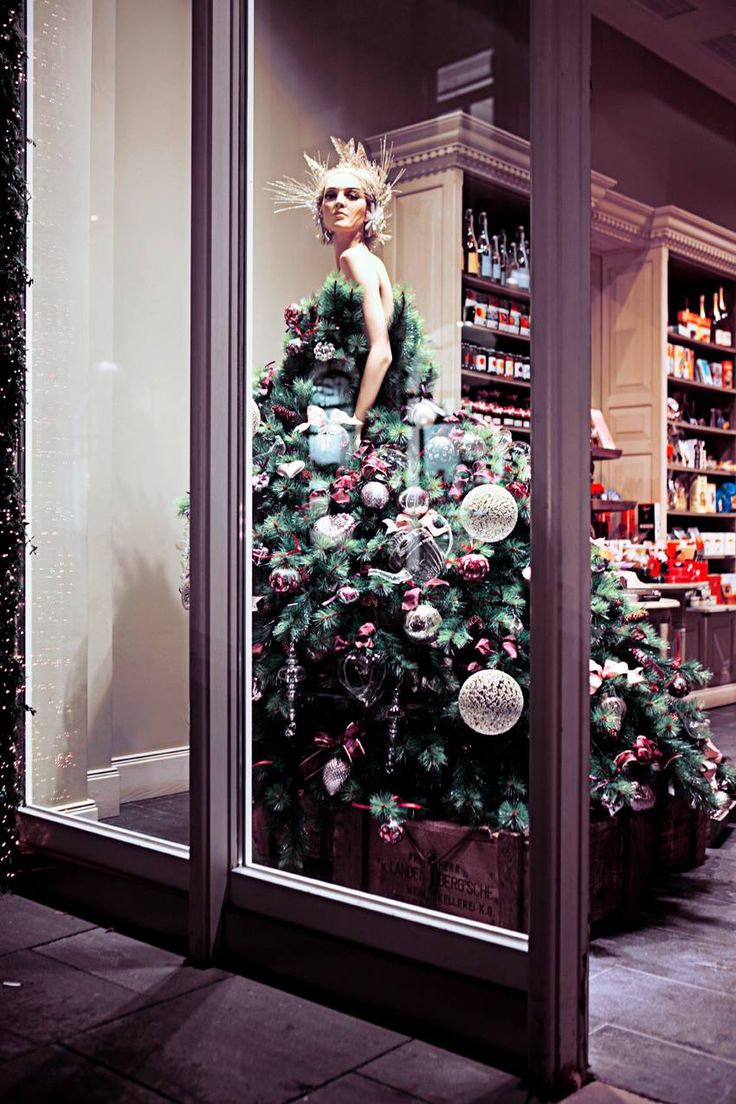 A mannequin dressed as a Christmas tree, what do you think?
