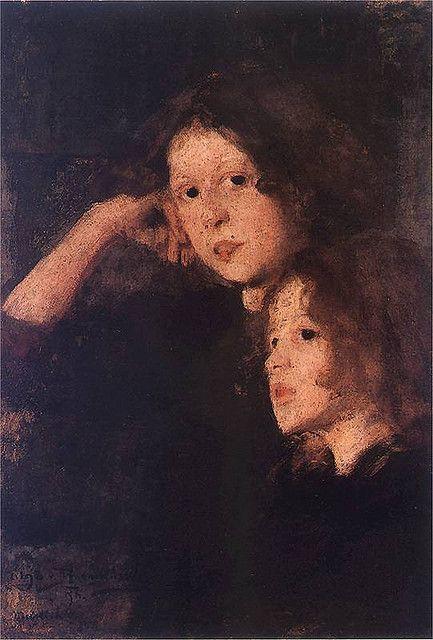 Olga Boznańska / Dwie dziewczynki / 1896 / Muzeum Górnośląskie Bytom: