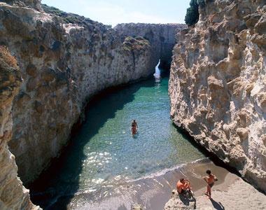 Milos, Greece: Papafrangas Cave