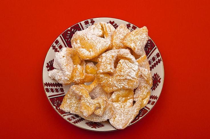 Claudia's Cookbook - Khrustyky (Ukrainian Fried Cookies)