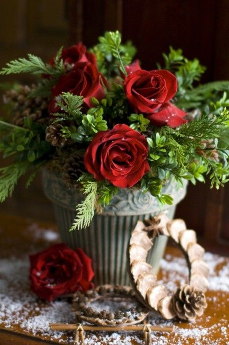 29 best images about arreglos de navidad con flores - Arreglo de flores naturales ...