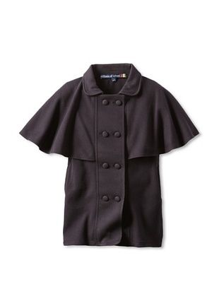 70% OFF Millions Of Colors Girl's Double Breasted Trench Cape (Black)