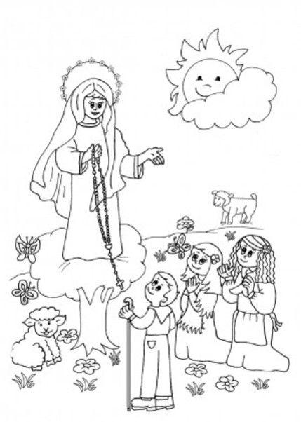 Fatima Para Colorear 12 Pintar Dibujos Y Imagenes De La Virgen