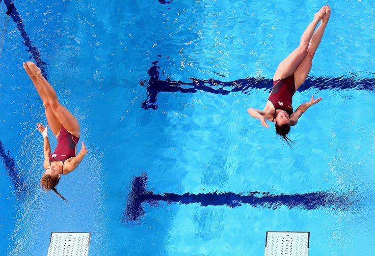 Alicia Blagg and Rebecca Gallantree of England