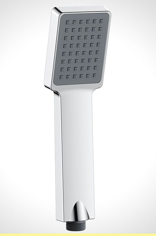 Rococo chrome single function hand shower piece