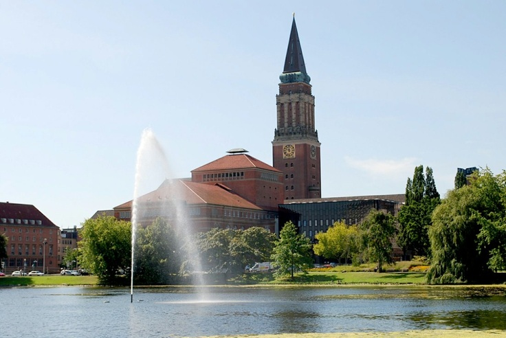 Lovely town of Kiel on the Baltic.