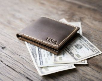 Mens Leather Wallet with Coin Pocket All Currency от JooJoobs