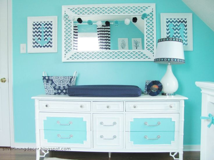 Love the paint job on this vintage dresser! #nursery #nurserydecor #changingtable: Boys Nurseries, Nautical Rooms, Paintings Dressers, Google Search, Baby Boys, Projects Nurseries, Nautical Nurseries, Baby Rooms, Baby Nurseries