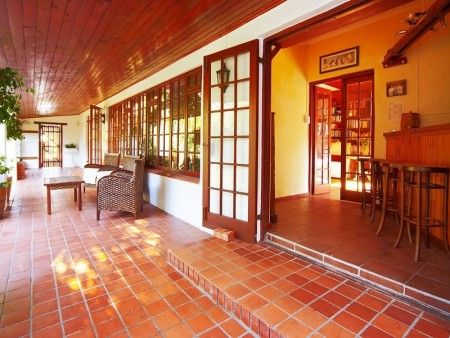 Self catering accommodation, Noordhoek, Cape Town  Relax on the outdoor patio