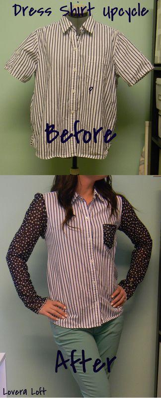 Men's Dress Shirt Upcycle Tutorial {Lovera Loft}