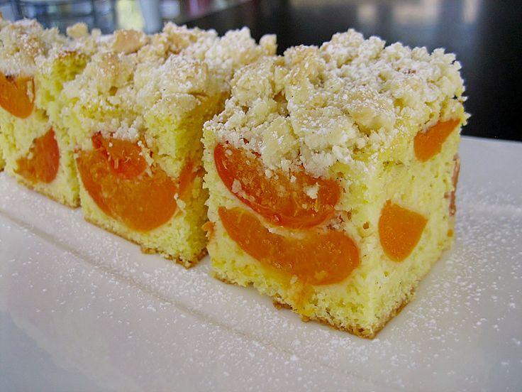 Marillen (Aprikosen) - Rahmkuchen mit feinen Streuseln | Chefkoch.de