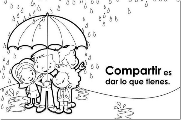 Collection of coloring sheets in Spanish to teach values – Educar Valores (1)