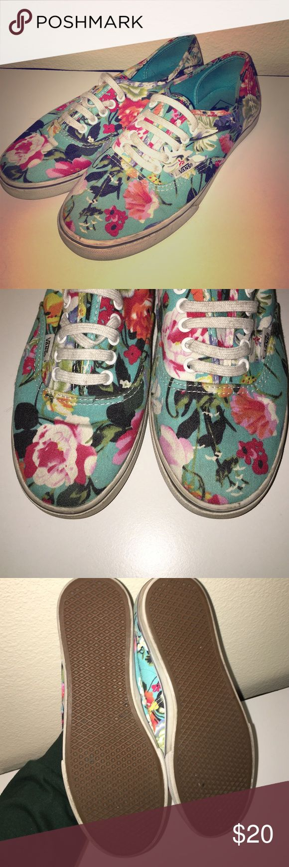 Floral Vans Great condition, slight wear and tear Vans Shoes Sneakers